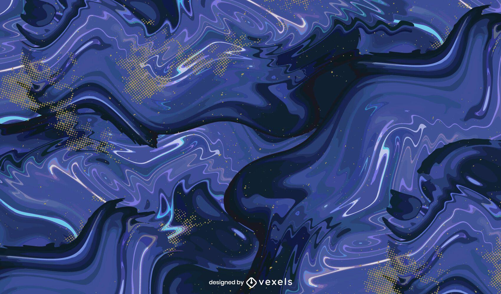 Paint swirl pattern design