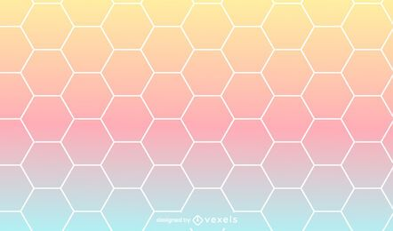 Hexagonal gradient pattern design