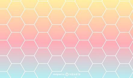 Projeto de padrão de gradiente hexagonal