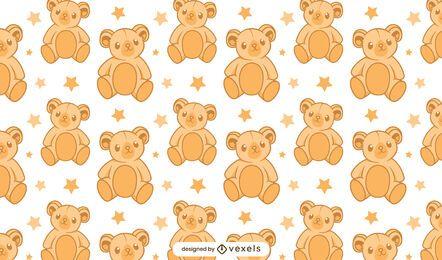 Desenho de padrão de urso de pelúcia