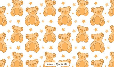 Teddy bear pattern design