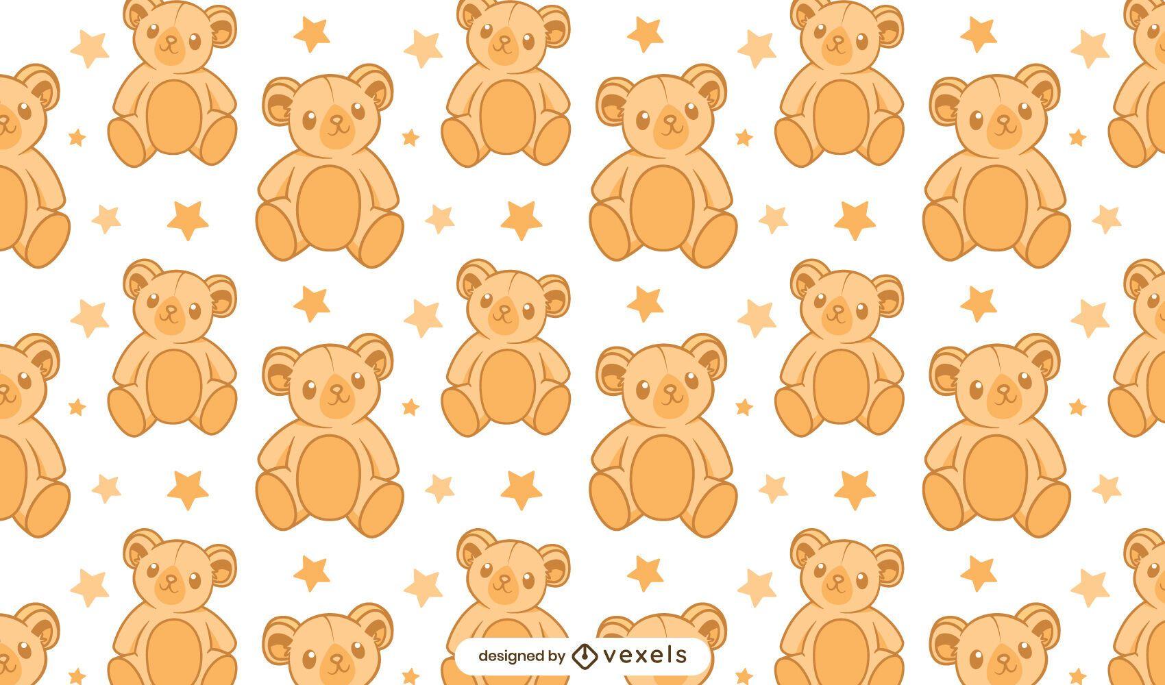 Teddy bear pattern design