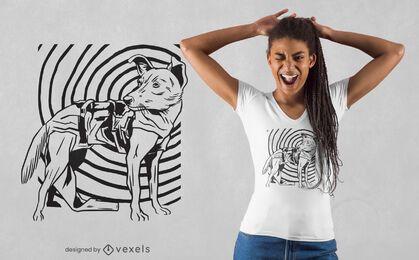 Design de t-shirt cão espacial Laika