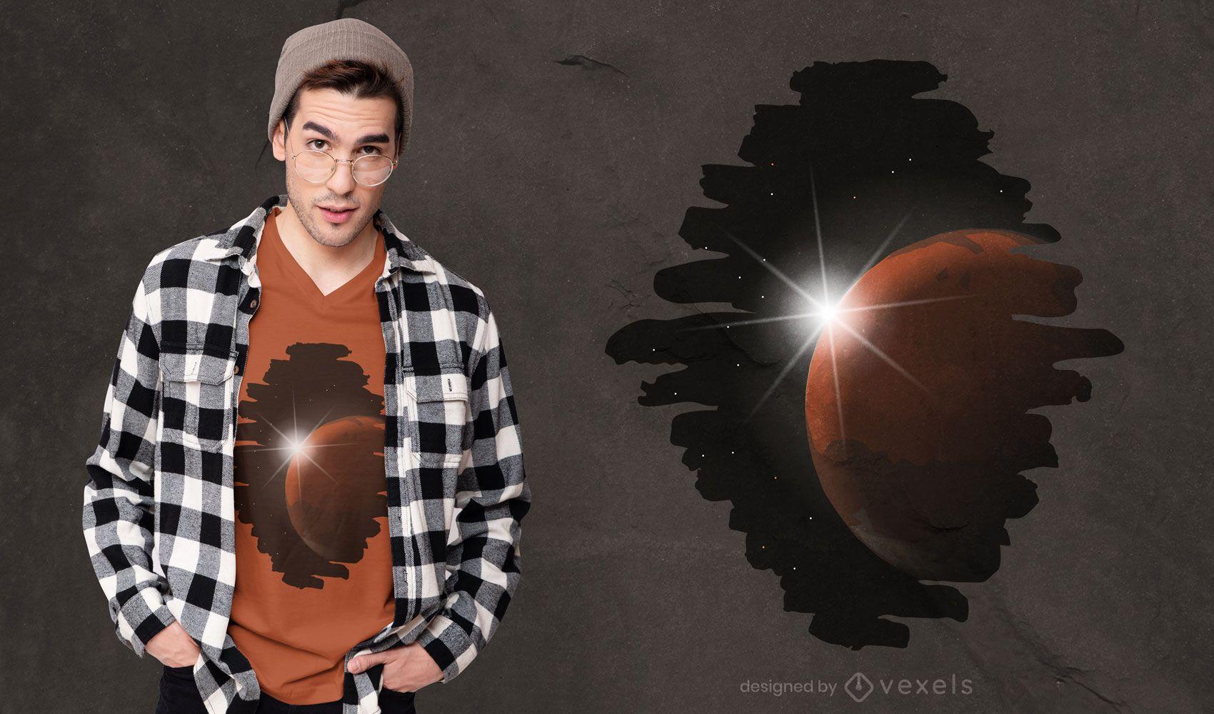 Dise?o de camiseta galaxy sun