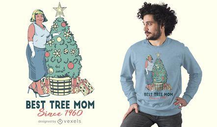 Melhor design de t-shirt da mãe da árvore
