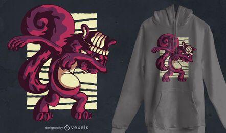 Diseño de camiseta de ardilla dabbing