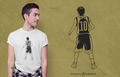 Design de camiseta para jovem jogador de basquete