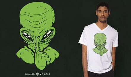 Diseño de camiseta Silence alien
