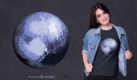 Diseño de camiseta planeta azul