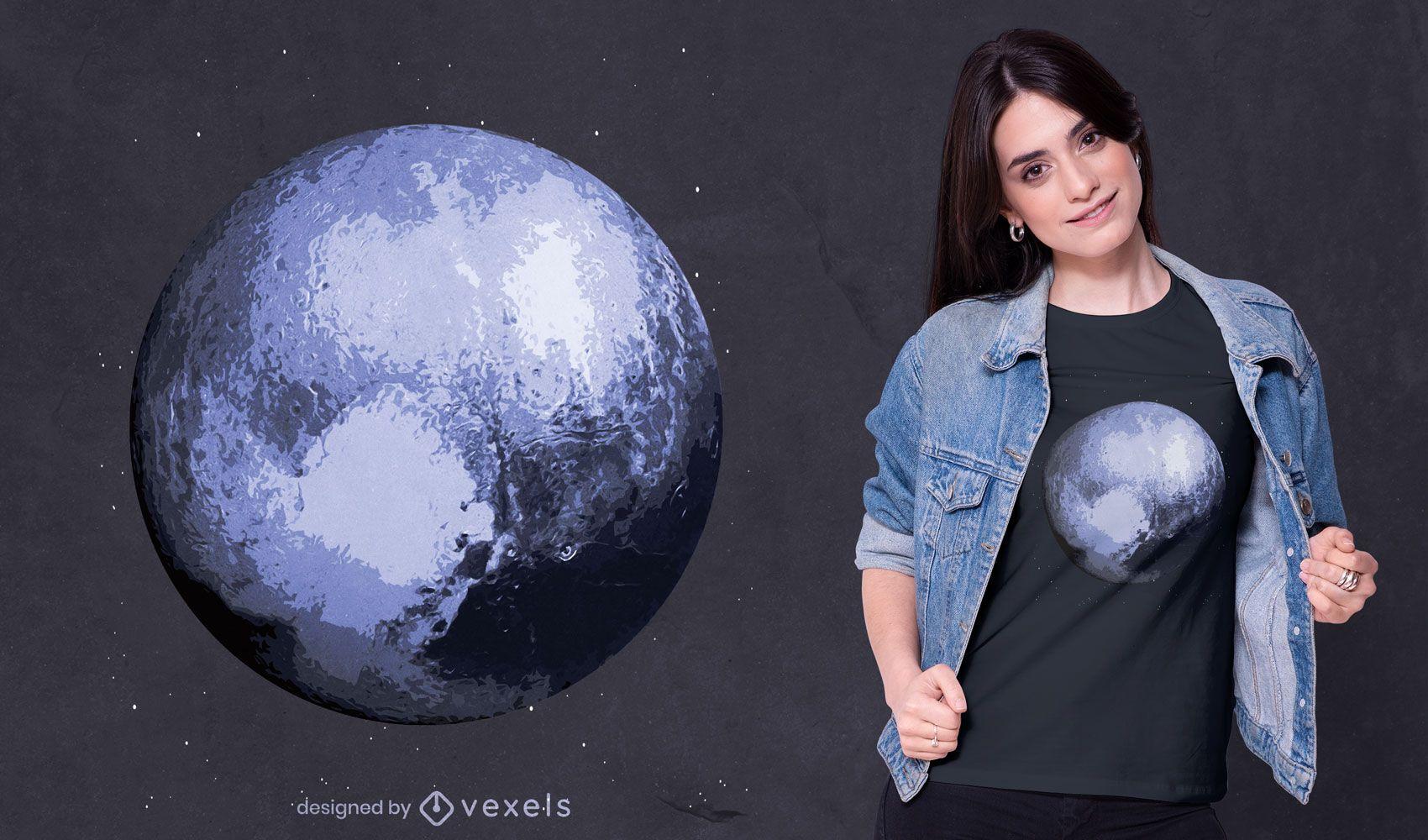 Blue planet t-shirt design