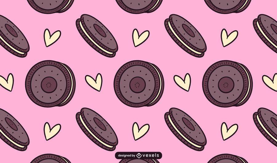 Chocolate cookies pattern design