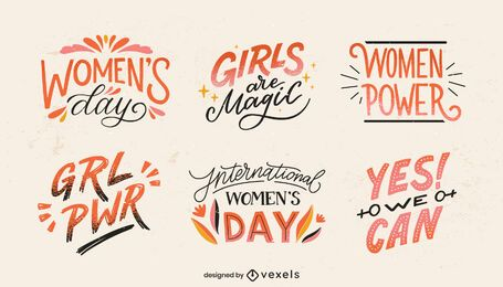 International Women's Day lettering set