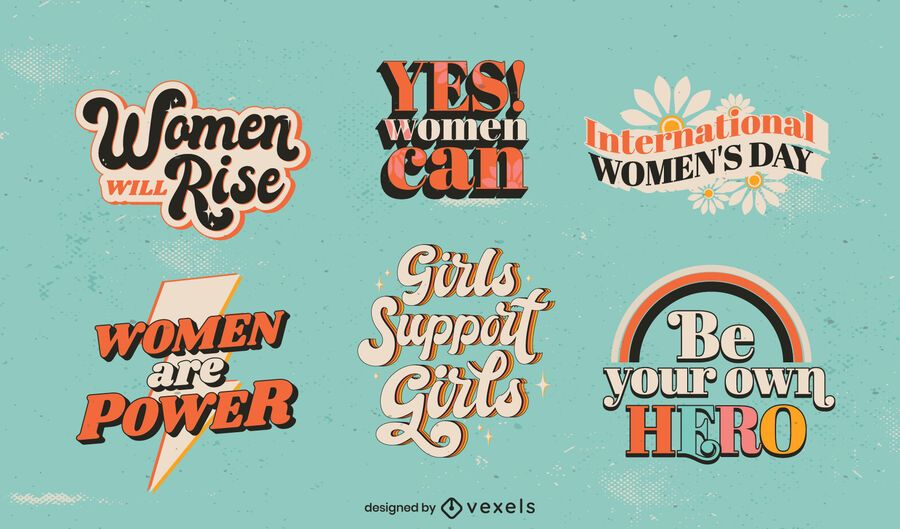 Women's Day lettering set