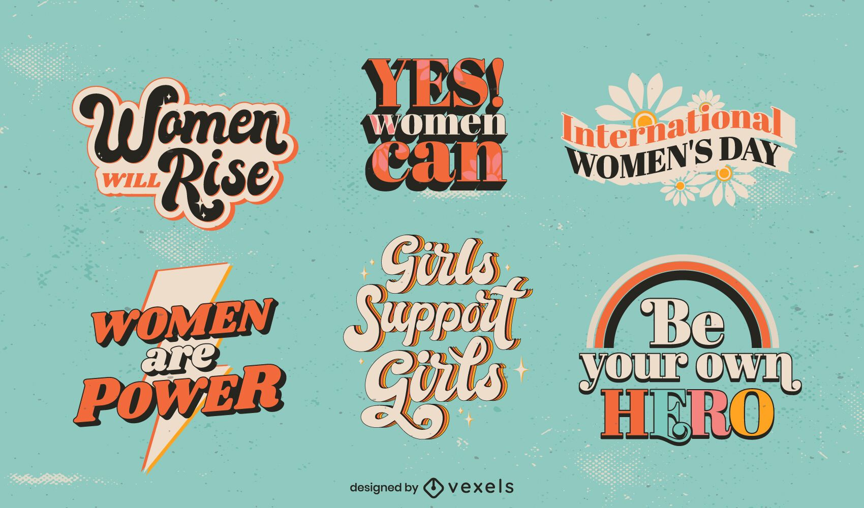 Women's Day lettering set