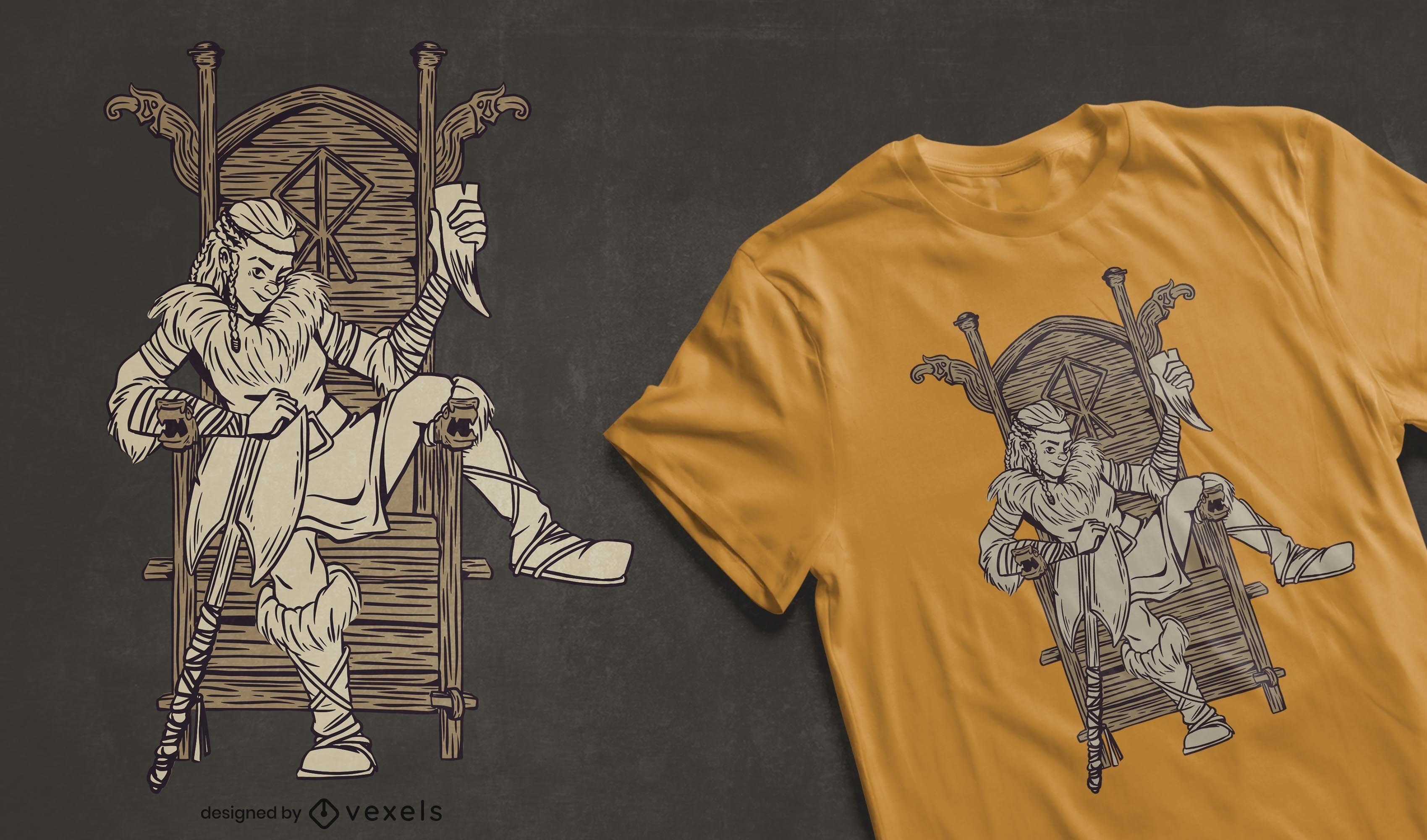 Viking woman t-shirt design