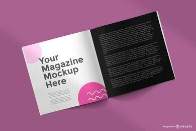 Square magazine mockup design