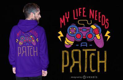Design de t-shirt do jogador patch