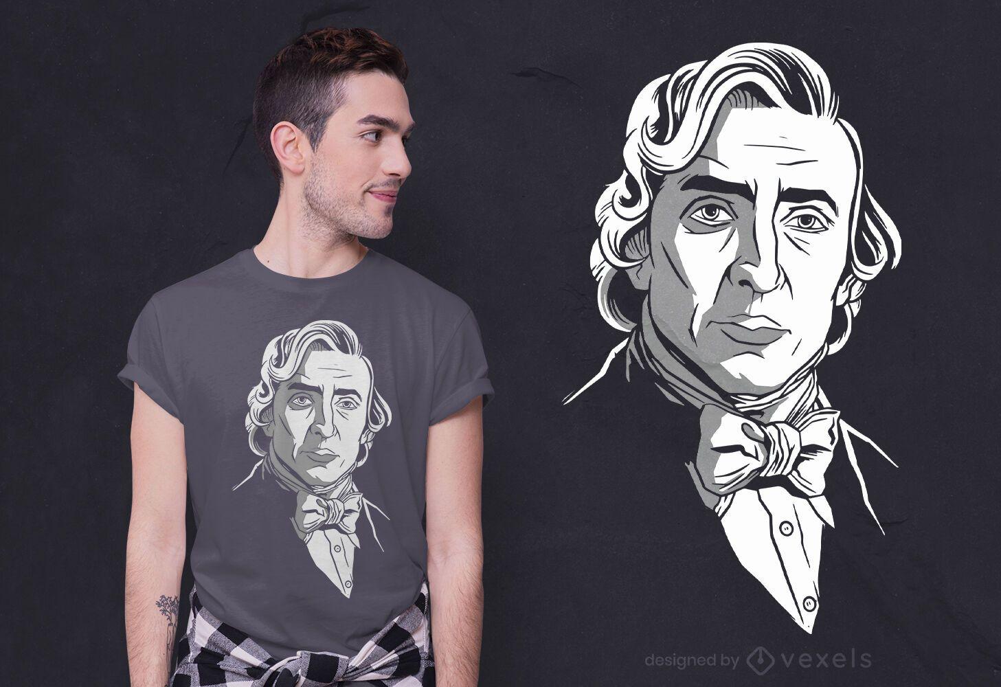 Diseño de camiseta de Frederic Chopin