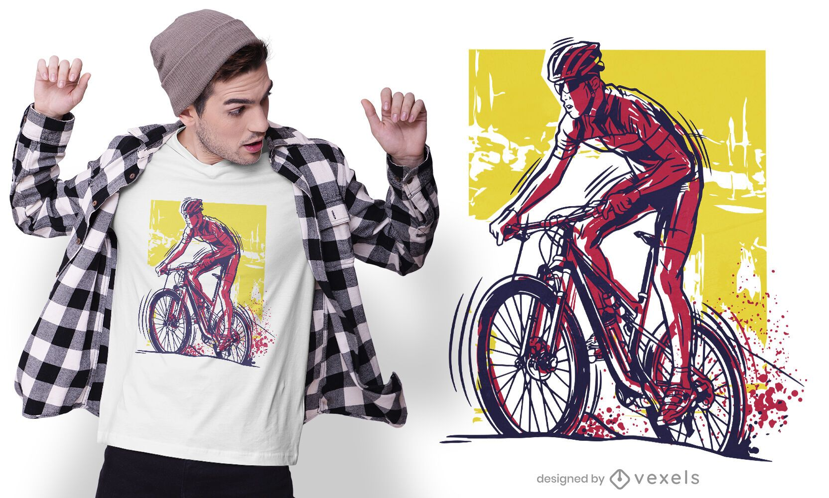 Male biker t-shirt design