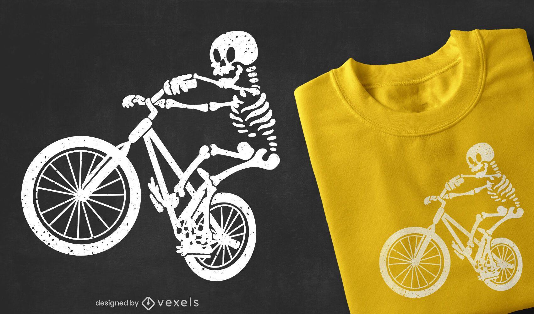 Skeleton biker t-shirt design