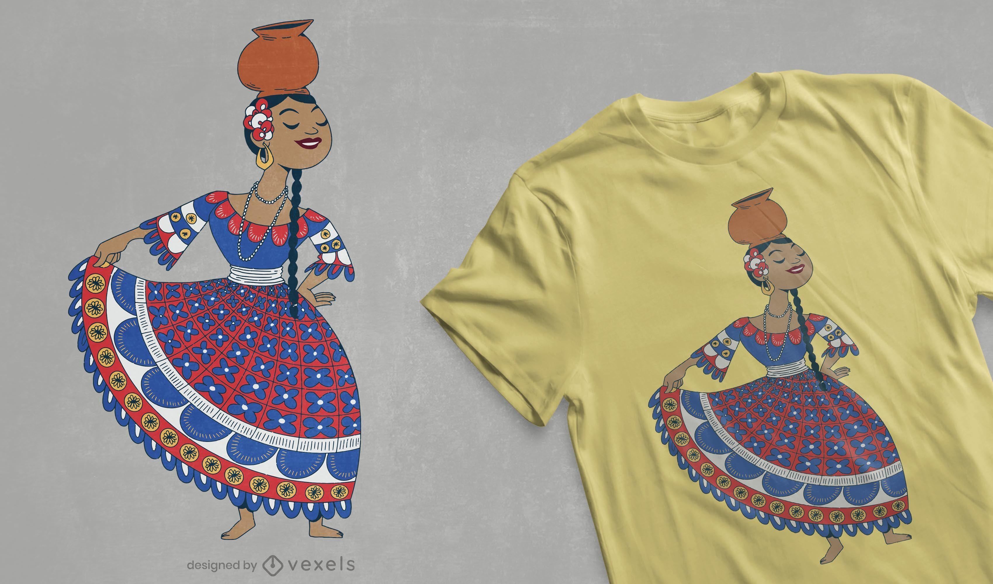 Paraguayan dancer t-shirt design