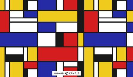 Diseño de patrón geométrico colorido