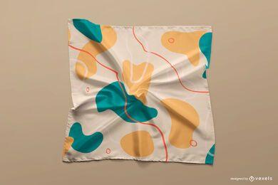 Desenho de maquete de lenço