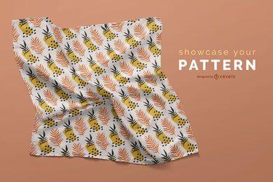 Desenho de maquete de lenço enrugado