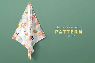 Desenho de padrão de lenço dobrado