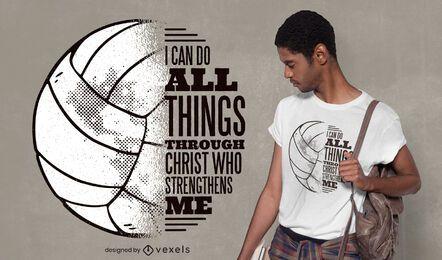 Diseño de camiseta voleibol cristo cita