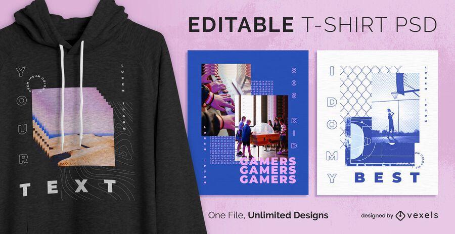 Urban scalable t-shirt psd