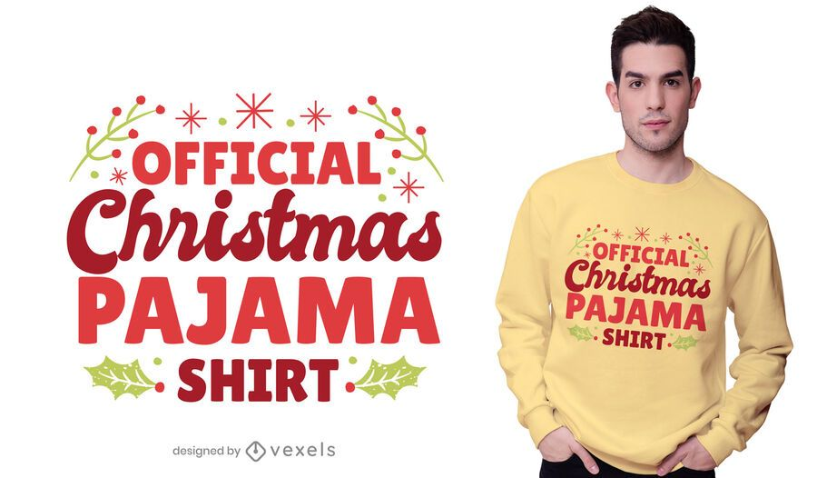 Christmas pajama t-shirt design