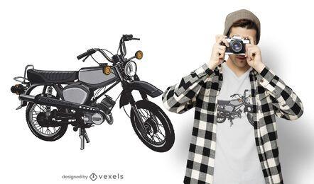 Diseño de camiseta de vehículo de moto.