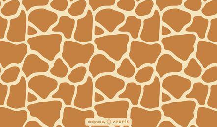 Patrón de animal print jirafa