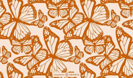 Patrón de mosaico de textura de mariposa