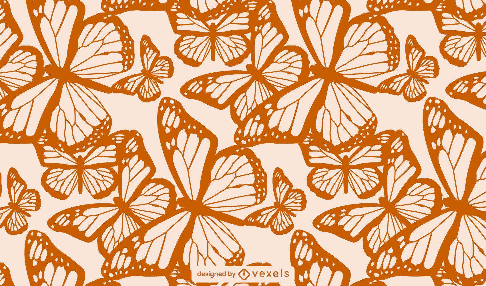 Patr?n de mosaico de textura de mariposa
