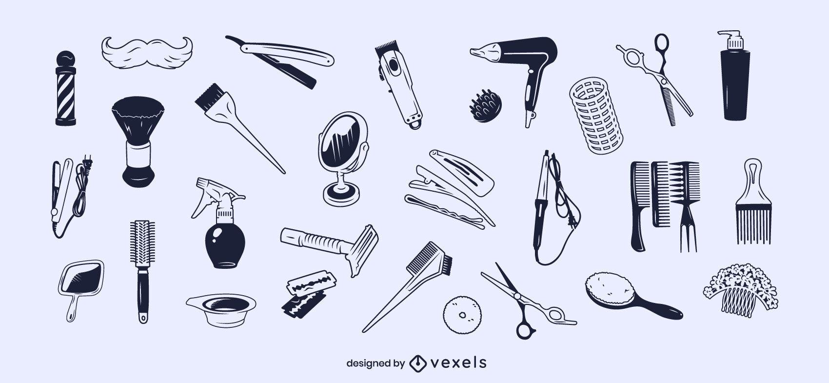 Conjunto de trazos de elementos de estilo