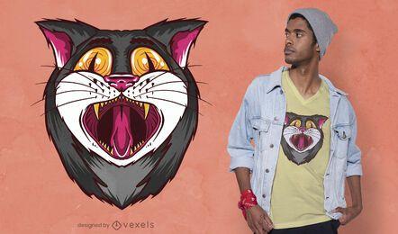 Yawning cat t-shirt design