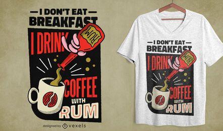 Diseño de camiseta de ron café