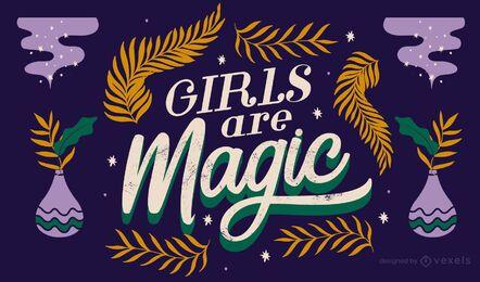 Las chicas son letras mágicas