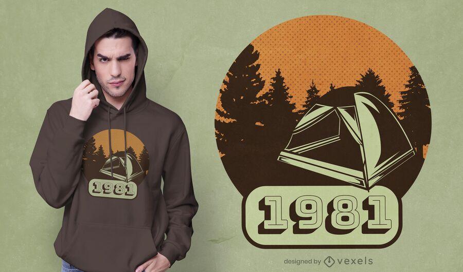 Camping vintage t-shirt design