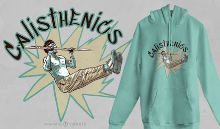 Diseño de camiseta de hombre calistenia