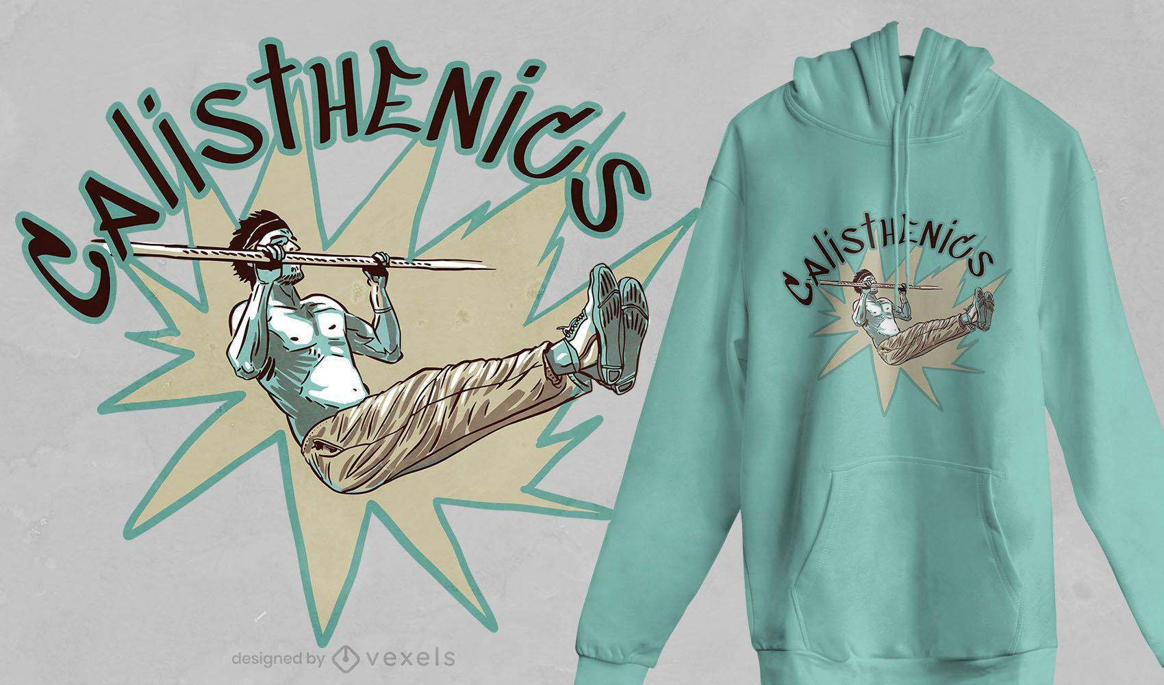 Calisthenics man t-shirt design