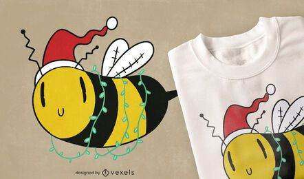 Christmas bee t-shirt design