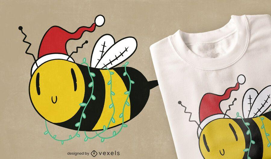 Christmas bee t-shirt design