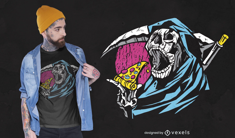 Diseño de camiseta pizza reaper