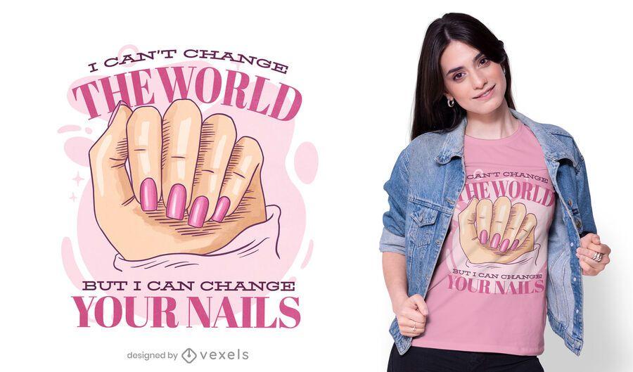 Posso mudar o design da sua camiseta de unhas