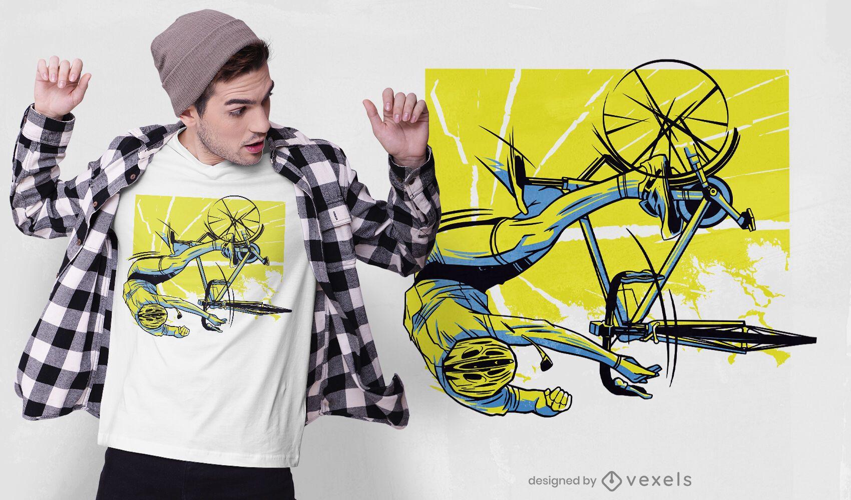 Biker accident t-shirt design