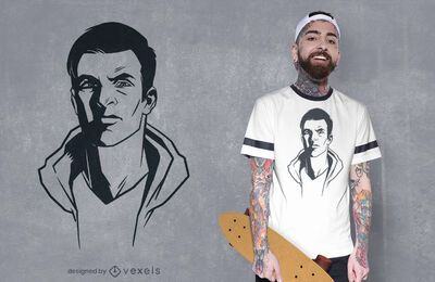 Hand drawn face t-shirt design