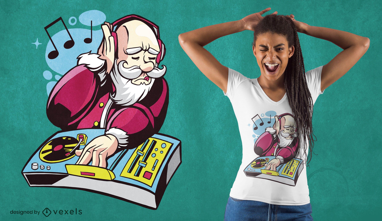 Diseño de camiseta dj santa